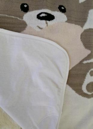 Детский  плед двухсторонний трикотаж/коттон 95*85 есть расцветки3 фото