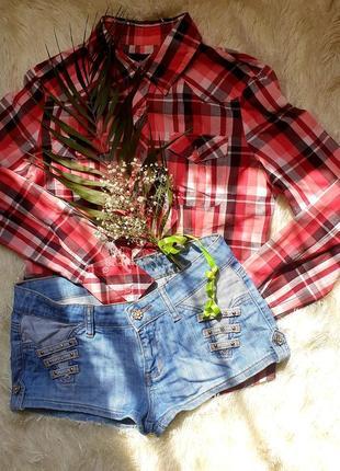 Джинсовые шорты укороченные светлого цвета
