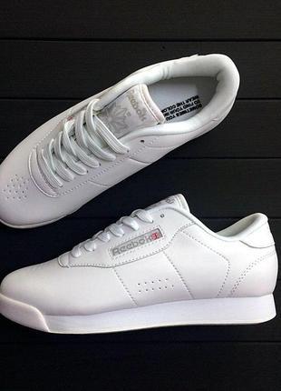 Reebok classic. женские кожаные белые кроссовки 😍 (весна/ лето/ осень)