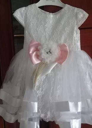 Платтячко для дівчинки на вік 1 рік (86 см)