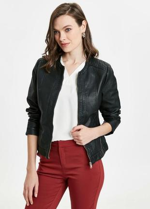 Куртка женская новая кожаная турция xs s m l xl xxl 3xl 48 50 52 54 56