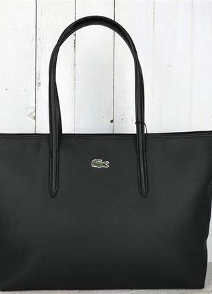 Женская сумка lacoste чёрная ♦ наложенный платёж