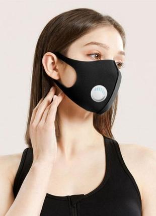 Защитная маска с клапаном, многоразовых использования