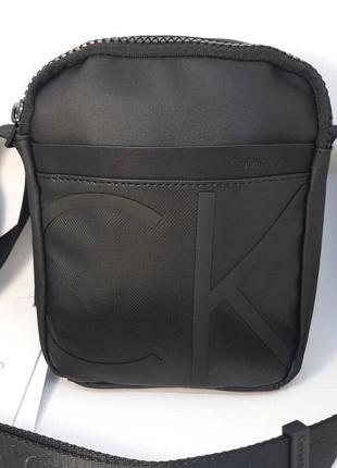 Мужская сумка calvin klein чёрная ♦ наложенный платёж