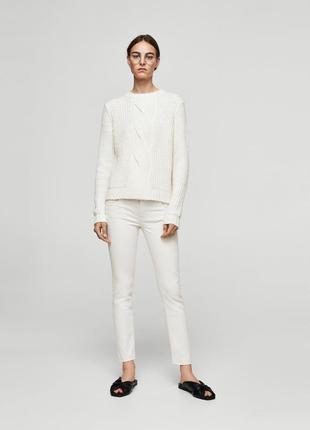 Белые джинсы от mango, 36р, оригинал, испания