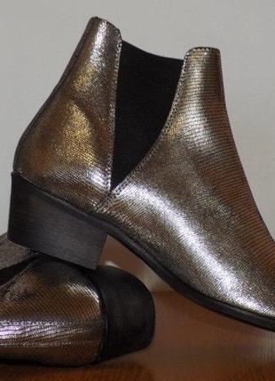 Кожаные, стильные фирменные ботинки от steve madden 40-41 р