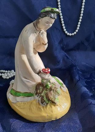 Аленький цветочек гипсовая статуэтка ссср эмаль кунгурская артель винтаж советская