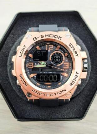 Часы casio glg-1000 black-cuprum