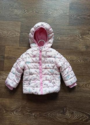 Демисезонная курточка на флисовой подкладке 9-12 месяцев