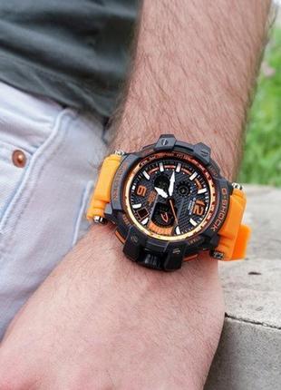 Часы casio g-shock gpw-1000 black-orange wristband