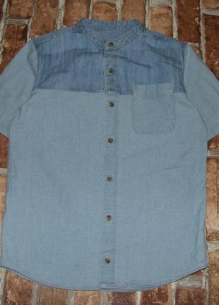 Стильная рубашка джинс мальчику 9 лет river island
