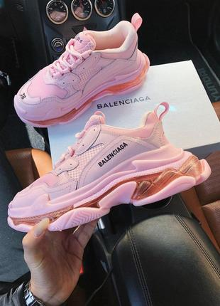 Кроссовки balenciaga triple s 2.0 pink air sole