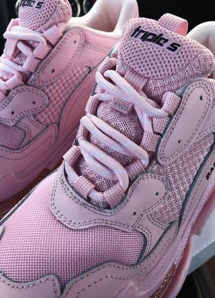 Кроссовки balenciaga triple s 2.0 pink air sole3 фото