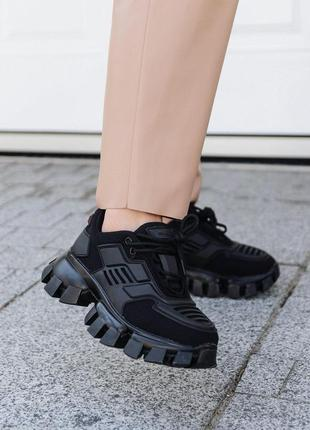 Кроссовки prada cloudbust black