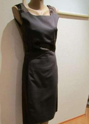 Платье элегантное, шелк + вискоза monica ricci, 36 р