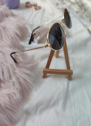 Очки окуляри солнцезащитные солнце круглые овальные черные новые7 фото