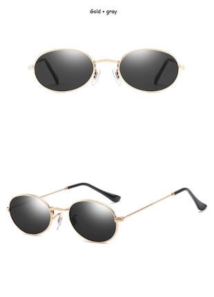 Очки окуляри солнцезащитные солнце круглые овальные черные новые3 фото