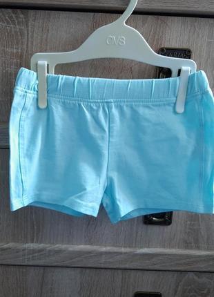 Хлопковые шорты для девочки 2\92