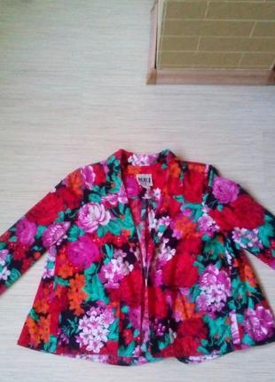 Винтажный пиджак в цветочный принт