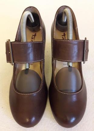 Кожаные туфли фирмы tamaris ( германия) р. 37 стелька 24 см