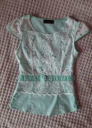 Стильная нарядная молодежная блузка блуза