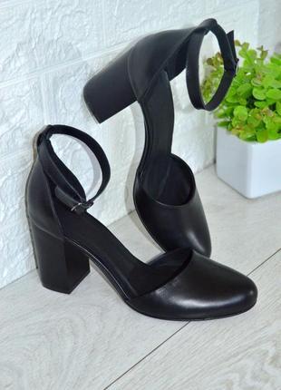 Туфли /босоножки на устойчивом каблуке натур кожа/натур замш цвета в ассортименте