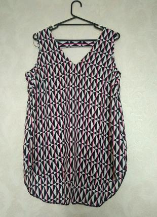 Принтовая блуза геометрия бренда f&f, размер 14,новая