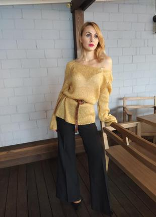 Мохеровая нежность. удлиненный свитер-туника