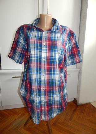 Tu рубашка мужская котоновая модная в клетку рм premium clothing
