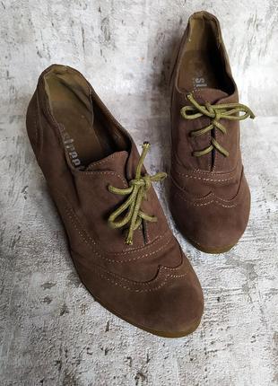 Полу ботинки сапожки текстиль на шнуровке
