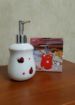 Диспансер для жидкого мыла керамический дозатор