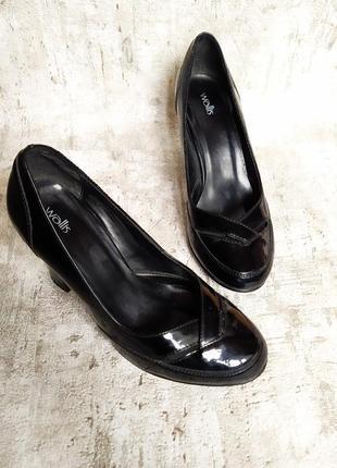 Лаковые туфли эко кожа