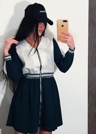 Платье короткое молния
