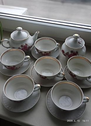 Красивый/винтажный  чайный сервиз времён ссср