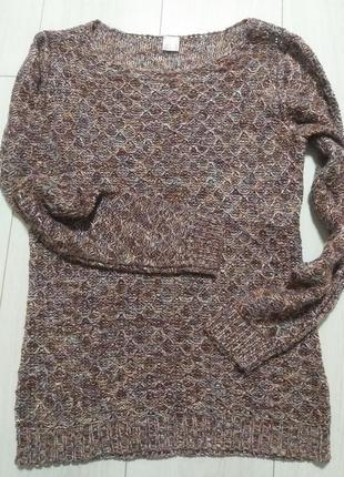 Классный ажурной вязки свитерок р.38