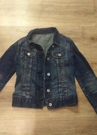 Джинсовая курточка на девочку подростка