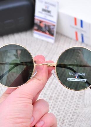 Круглые солнцезащитные очки ted browne polarized унисекс