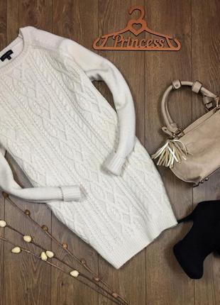 Платье -свитер вязаное