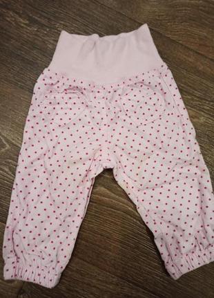 Вельветовые штанишки в горошек на 6 месяцев