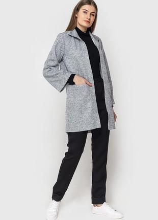 Кардиган серый с карманами
