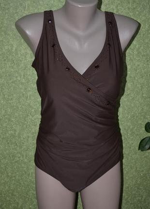 Шикарный купальник в коричневом цвете1