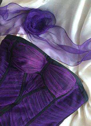 Котейльное корсетное платье футляр bcbgmaxazria фатин размер xs