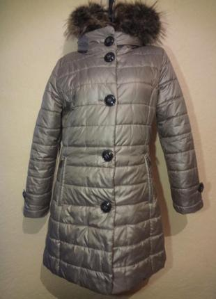 Теплое пальто типа пуховик concept размер м