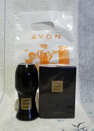 Набор: парфумированная вода 50 мл и дезодарант 50 мл little black dress  avon