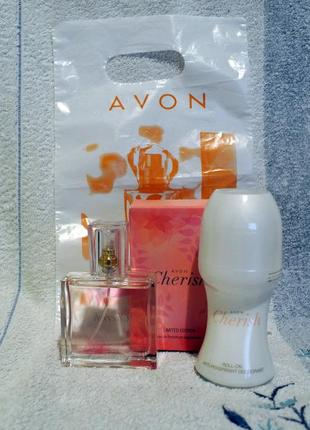 Набор: парфумированная вода 30 мл и дезодарант 50 мл cherish avon