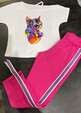 Яркий и стильный костюм, летний комплектик5 фото