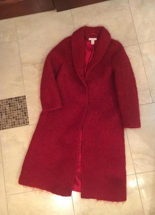 Пальто мохер h&m