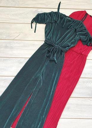 Неймовірний плісирований комбінезон брюками палаццо cameo rose
