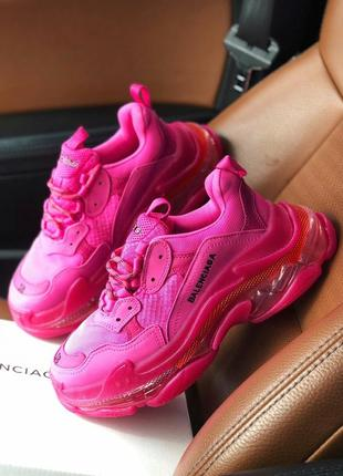 Balenciaga triple s 2.0 clear sole pink малиновые ⭕ женские кроссовки ⭕ наложенный платёж