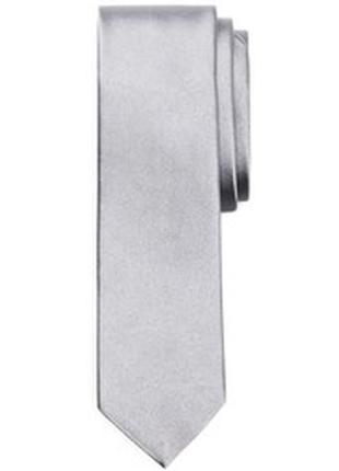 Светло серый текстурный галстук узкий